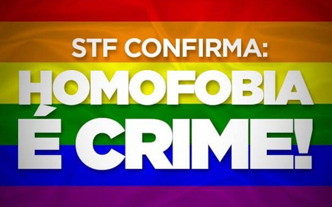 Homofobia já é um crime!